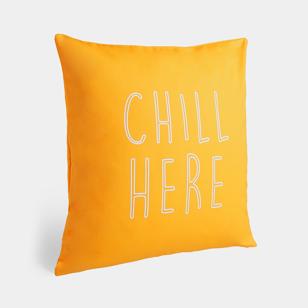 Chill Here Printed Cushion