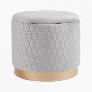 Quilted Storage Stool