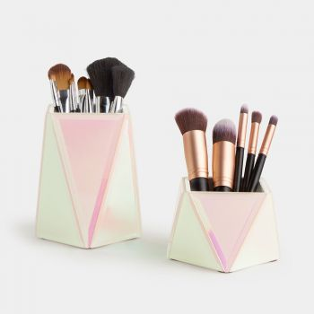 Set of 2 Holographic Makeup Brush Holders