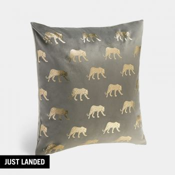 Foil Leopard Cushion