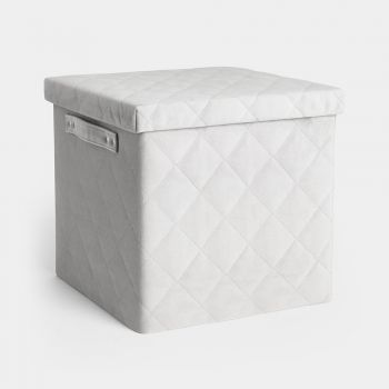 Collapsible Quilted Velvet Storage Box