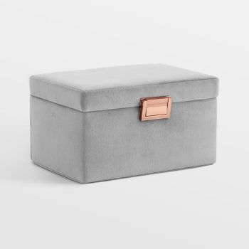 Grey Velvet Jewellery Box