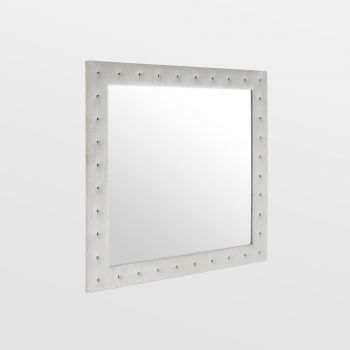 Grey Velvet Wall Mirror