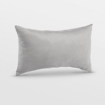 Small Grey Velvet Cushion