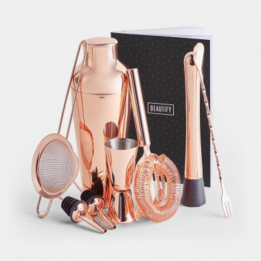 Rose Gold Parisian Cocktail Set