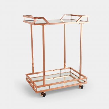 Rose Gold Bar Trolley