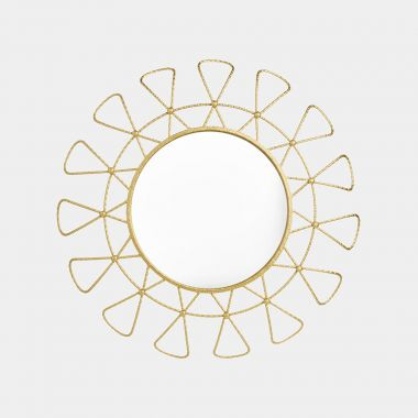 Gold Sunburst Outdoor Mirror