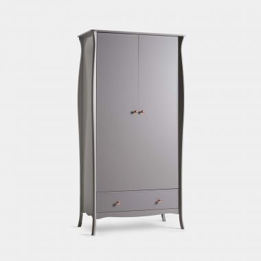 beautify grey double wardrobe with drawers