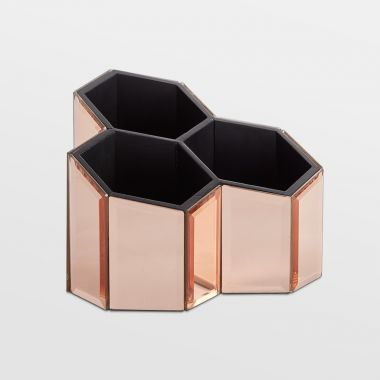 Rose Gold Mirrored Trio Pot