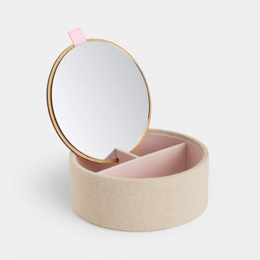 Bamboo Jewellery Box With Mirror