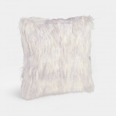 Lilac Mongolian Faux Fur Cushion