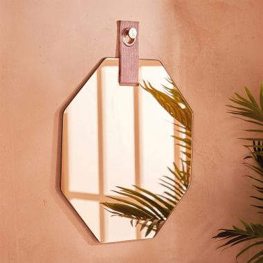 Smoked Glass Geo Mirror