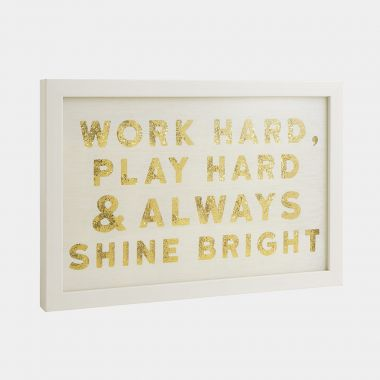 Work Hard Glitter Wall Art