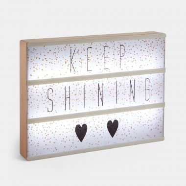 Rose Gold LED Letter Box