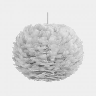 Grey Feather Ceiling Lamp Shade