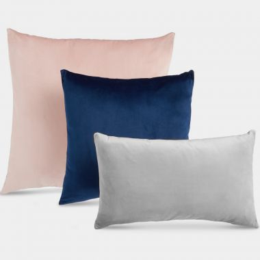 Set of 3 Velvet Cushions