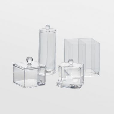 Clear Cosmetic Organiser Set