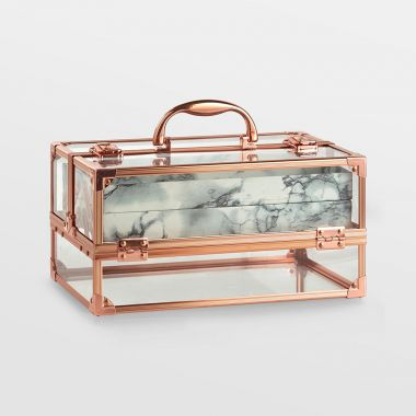 Rose Gold Acrylic Makeup Case