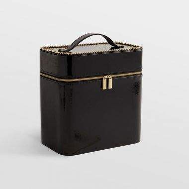 Black Patent Makeup Case