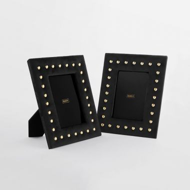 Black Velvet Photo Frames - Set of 2