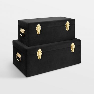 Black Velvet Trunks - Set of 2