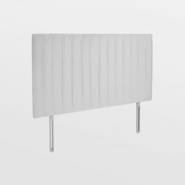Grey Velvet Double Headboard