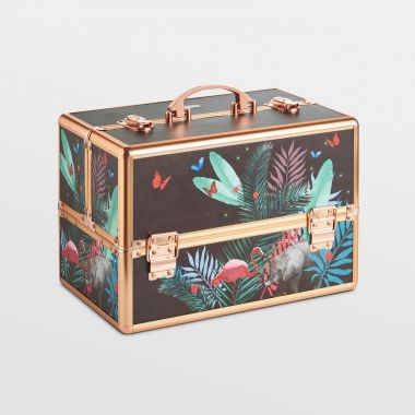 Large Jungle Print Makeup Case