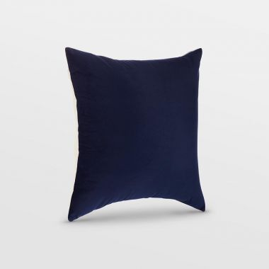 medium navy velvet cushion