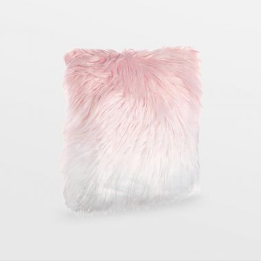 Pink Ombre Mongolian Faux Fur Cushion
