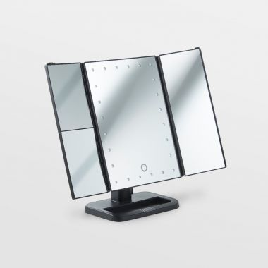 Trifold LED Mirror
