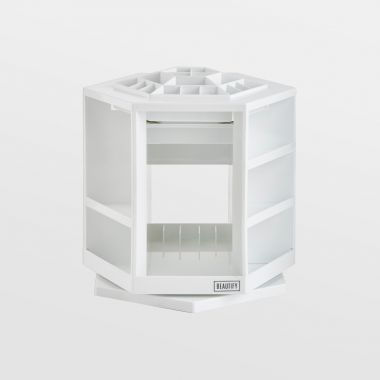 White Rotating Makeup Organiser