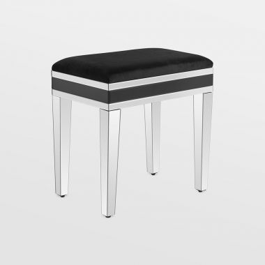 Black Dressing Table Stool