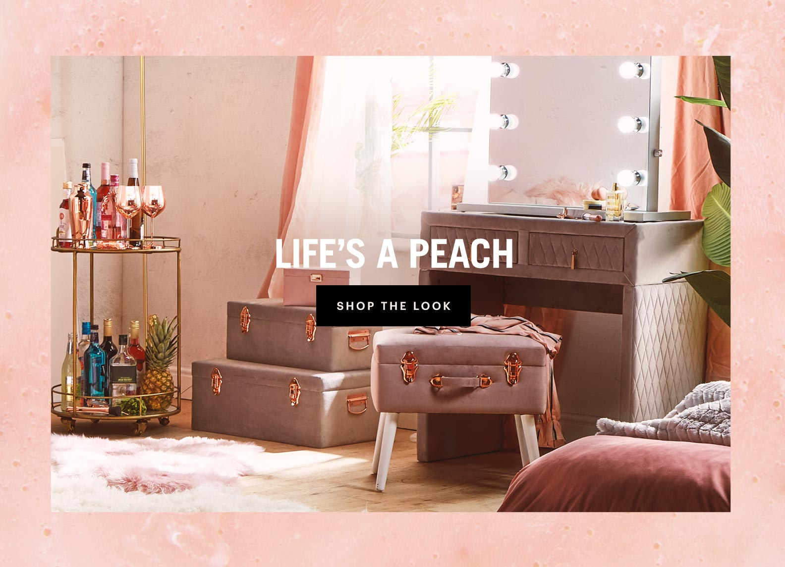 beautify life's a peach homeware and furniture collection